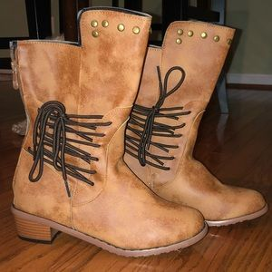 Other - Faux Leather Kids Boots